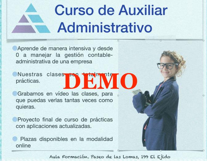 Curso Auxiliar Administrativo Demo